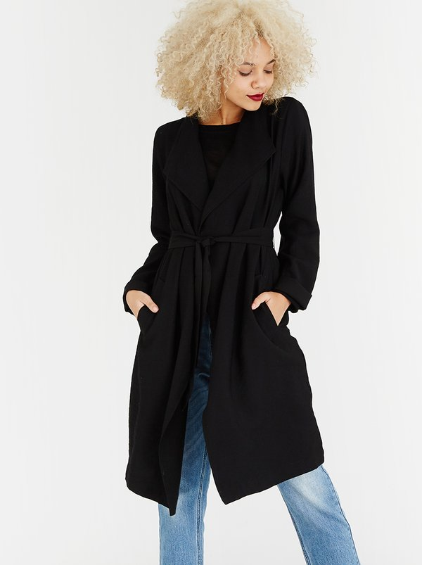 ONLY Clara Waterfall Coat Black