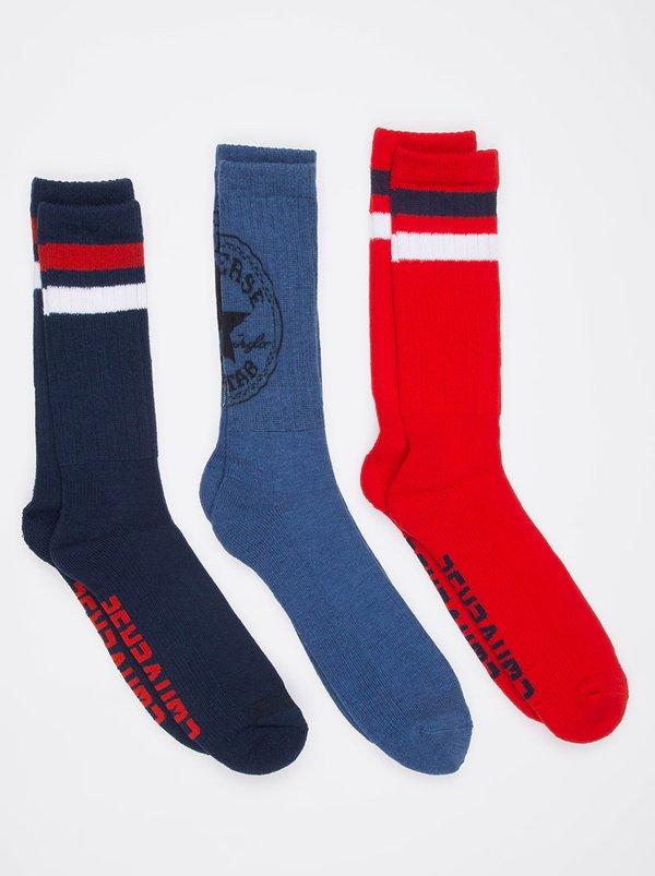 Pack 360 Chuck Patch Socks Blue | Converse
