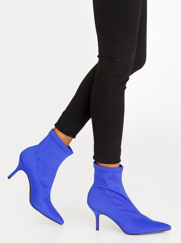 Sock Boots Blue | STYLE REPUBLIC
