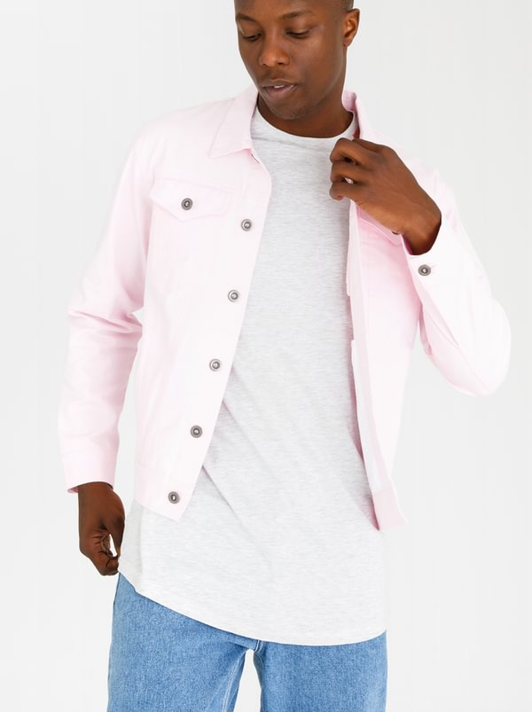 Trucket Patch Pocket Jacket Mid Pink | Resist