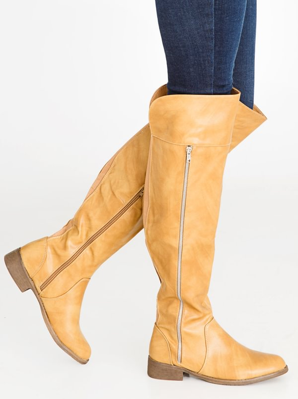 free shipping best store to get high quality for sale Thigh-high Boots Tan STYLE REPUBLIC with paypal online best prices cheap online mdS9SwC
