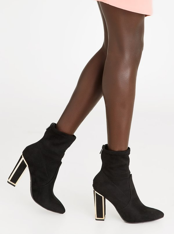 amazing price cheap online buy cheap wide range of ZOOM ZOOM Carmen Block Heel Ankle Boots Black order huge surprise cheap online original for sale ojQAVUUr