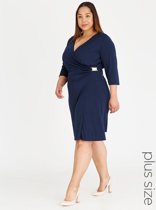 Contempo Curve Translucent Dress Navy Spree Co Za