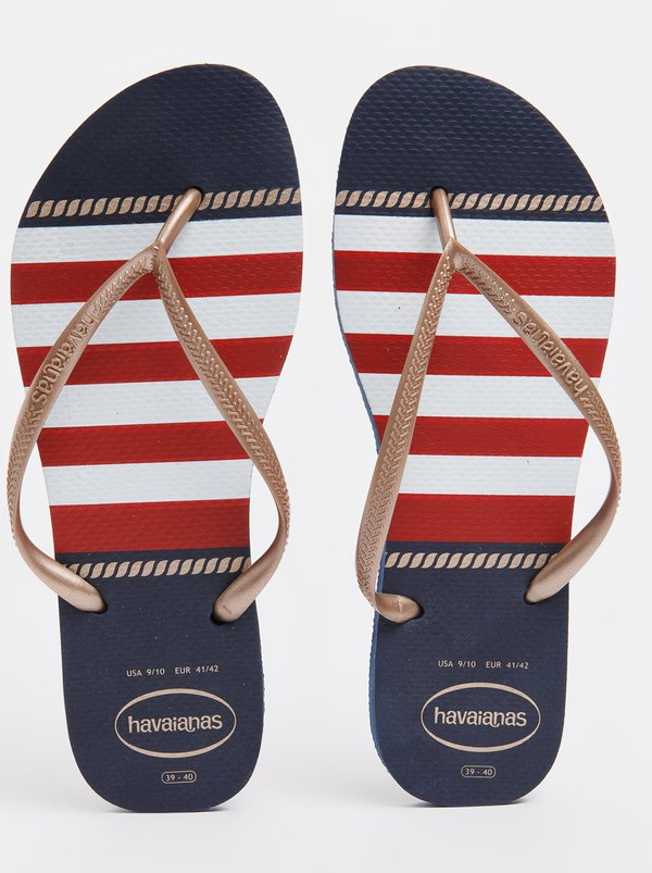 Havaianas Slim Nautical Flip-flops Navy