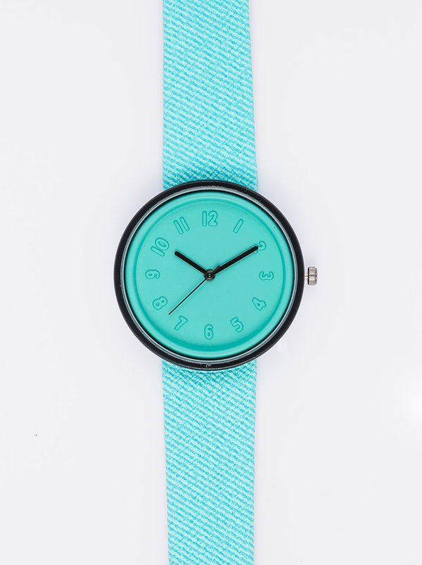 edit Round Face Watch Green