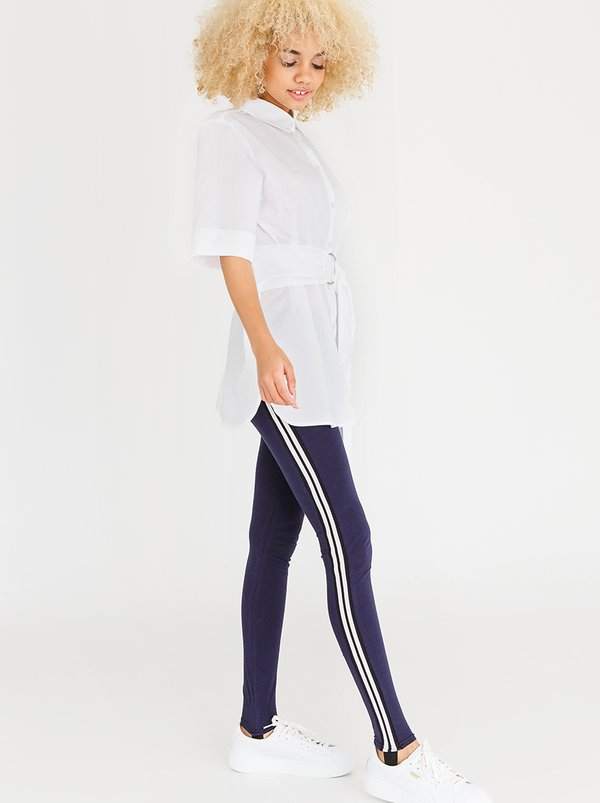 c(inch) Sports Luxe Stirrup Leggings Navy