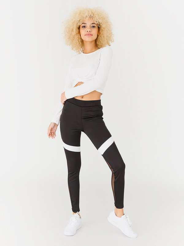 c(inch) Sports Inspired Leggings Black and White