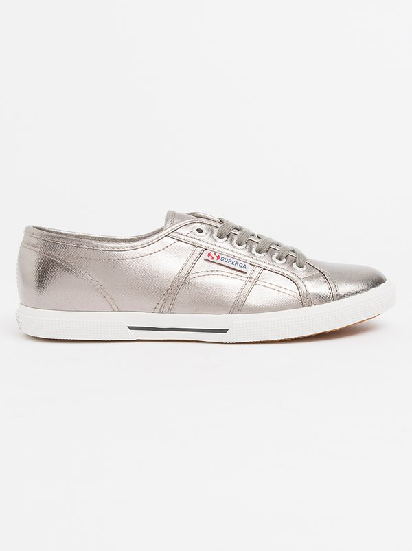 Superga Metallic Foil Slim Line Sneakers Grey