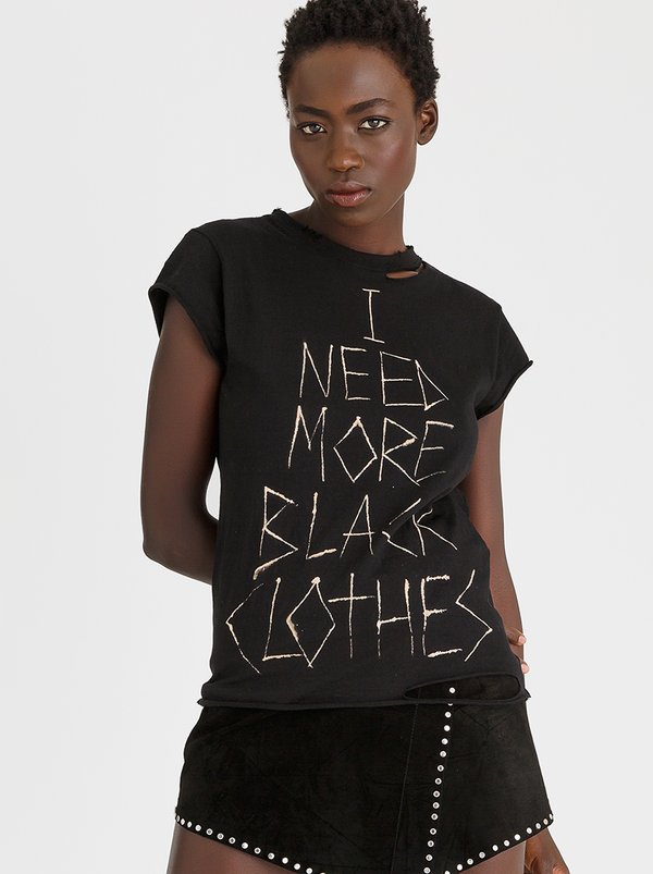 I Need More Black Clothes Tee Black | Vintage Zionist