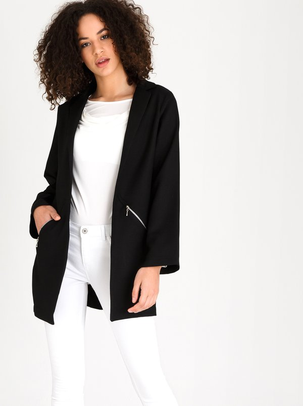 Longer Length Casual Blazer Black | edit