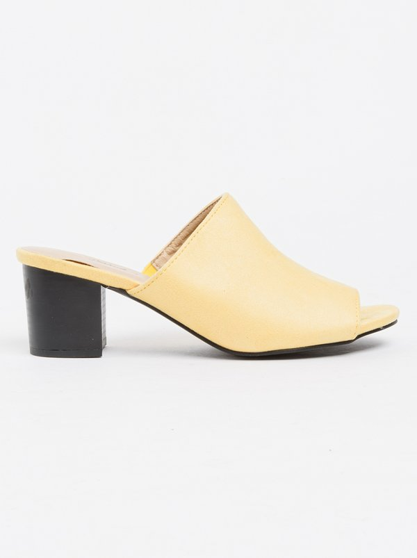 Owl Mules Yellow | Miss Black