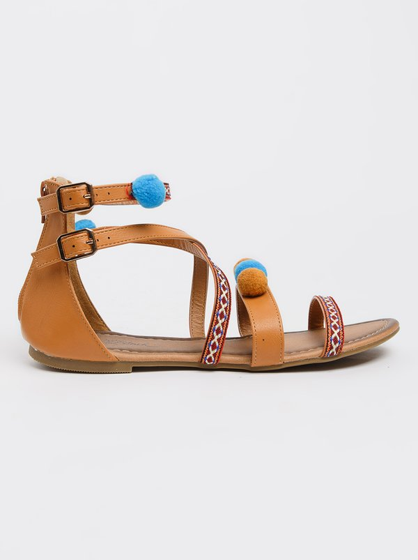 clearance newest cheap visa payment Ankle-strap Sandals Beige Miss Black buy cheap 100% original factory outlet cheap price nJLvpI7uU