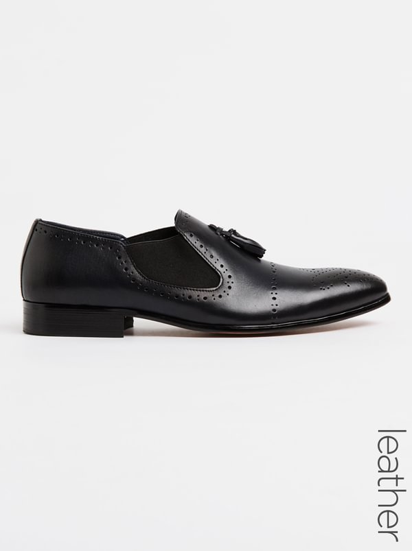 Franco Ceccato Formal Leather Slip On Shoe Navy