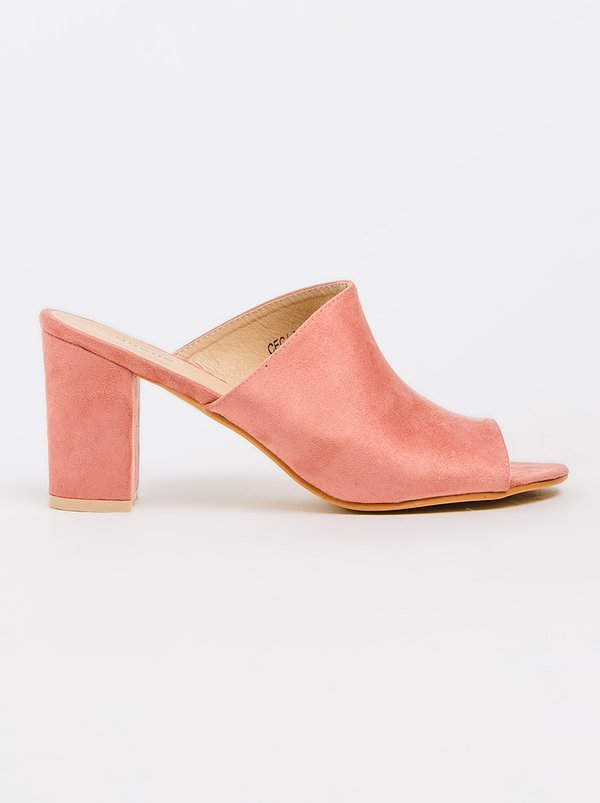 Queue Mule Heels Pale Pink
