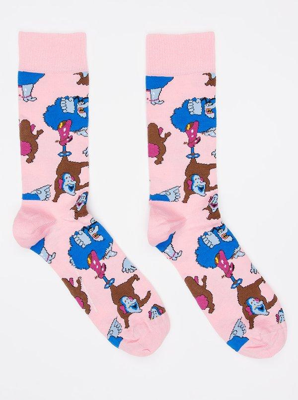 Beatles Chief Blue Meanie Jersey Socks Pale Pink | Happy Socks