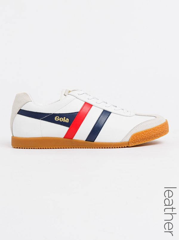 Gola Harrier Leather Sneakers White