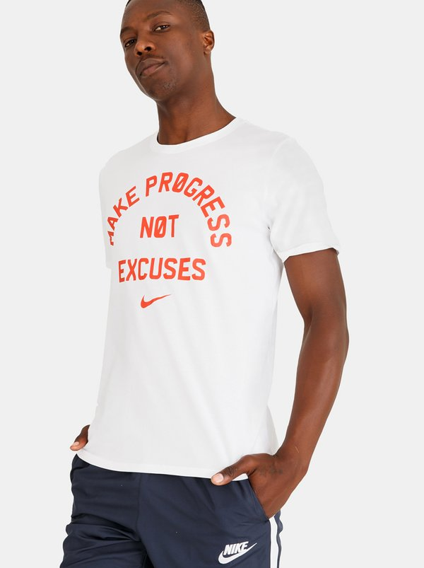 NIKE Nk Dry Tee Dfc No Excuses White