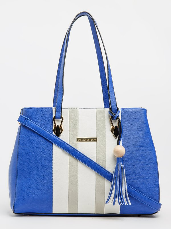 BLACKCHERRY Colour Block Tote Bag Cobalt