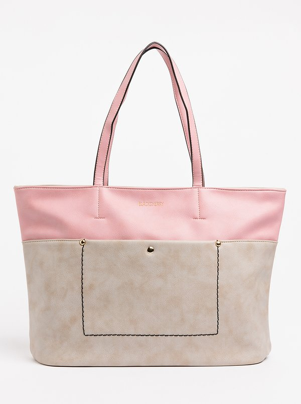 BLACKCHERRY Colourblock Shopper Bag Cream