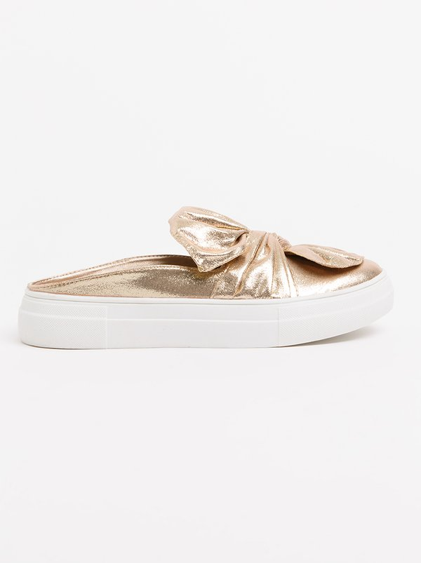 Wild Alice by Queue Flower Embellished Mules Rose gold