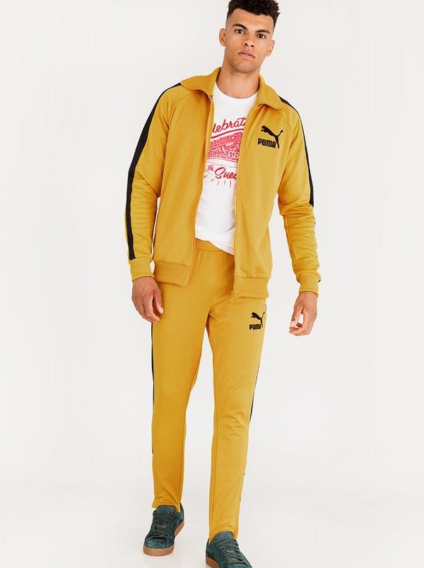 PUMA T7 Vintage Track Pants Yellow F6J3W18