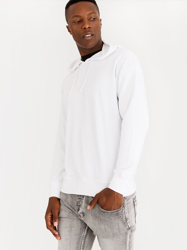 Boxy Hoodie White | Only & Sons