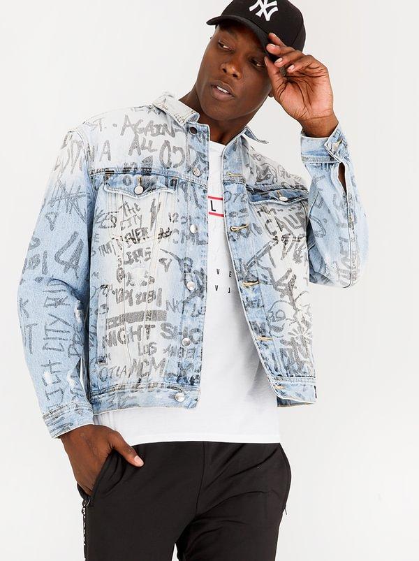 Guess Oversized Denim Jacket Blue Ay71rnk Spree Co Za