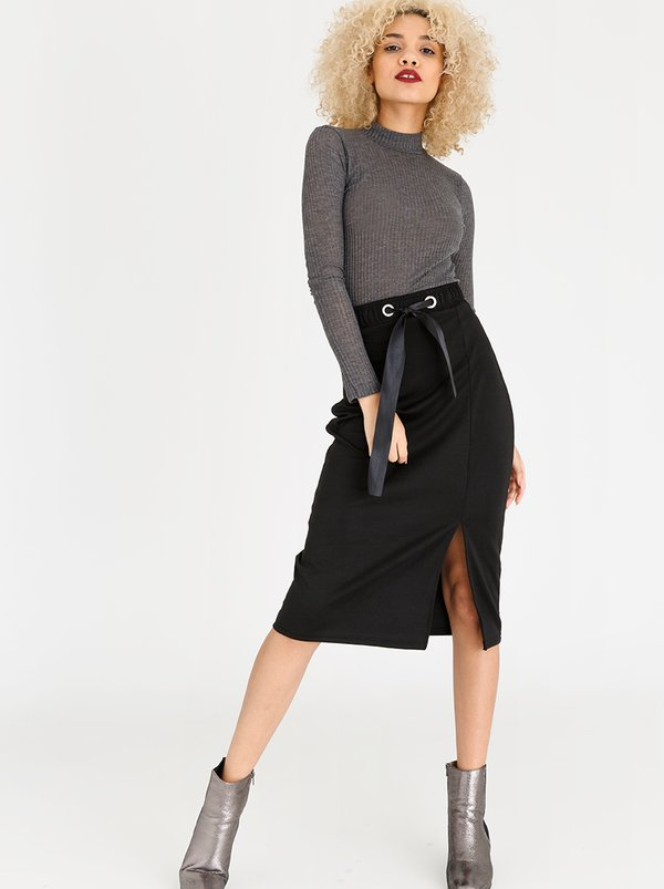 Sports Luxe Bodycon Skirt Black | c(inch)