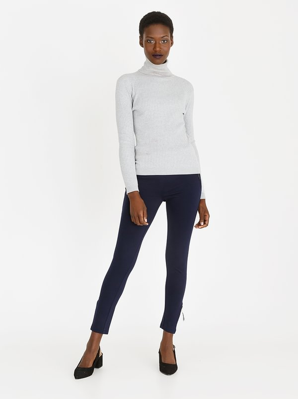 cath.nic Zip Detail Trousers Navy