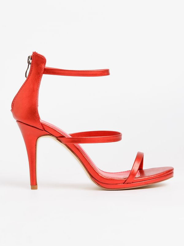 Ruby Strappy Heels Red | Plum