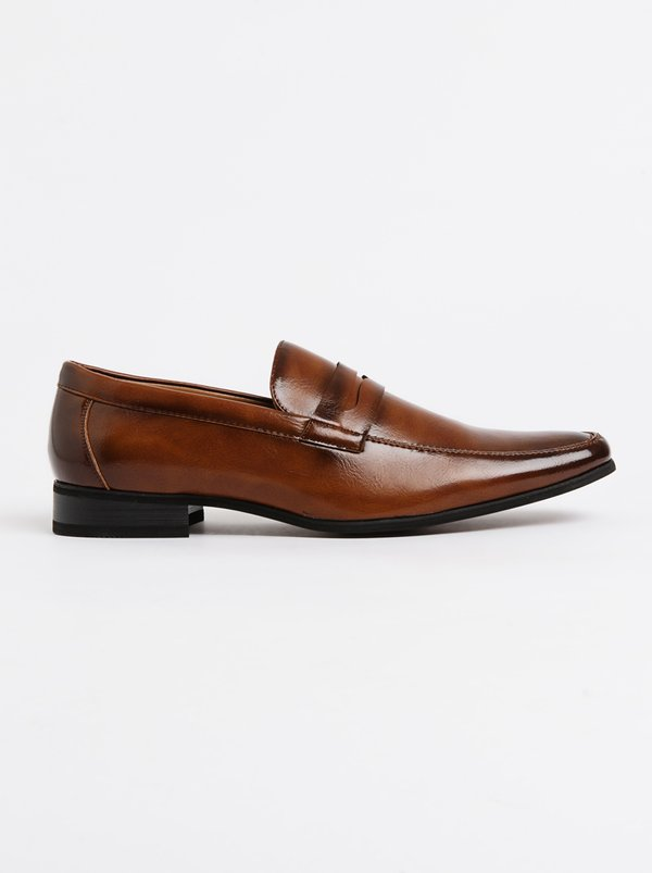 GINO PAOLI Slip On Penny Loafer Mid Brown