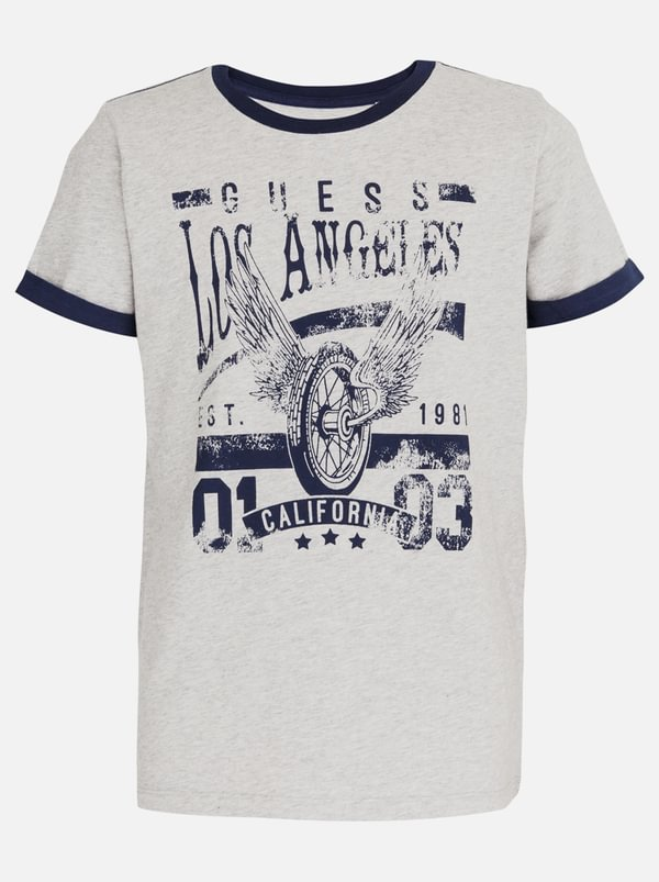 Guess Roll up Sleeve Tee Grey