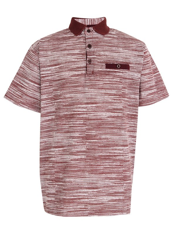 Retro Fire Boys Golfer Burgundy