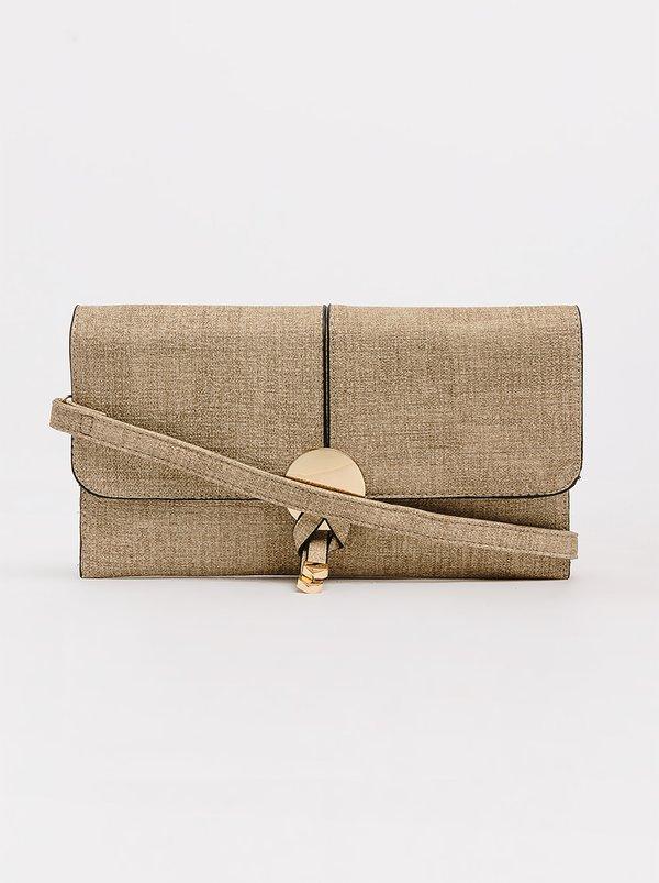Minimal Clutch Bag Beige | BLACKCHERRY