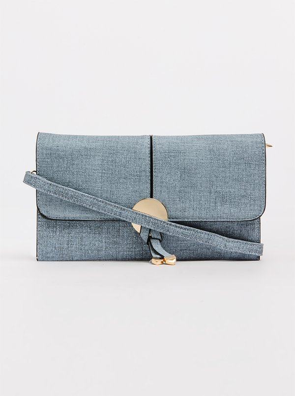 BLACKCHERRY Minimal Clutch Bag Blue