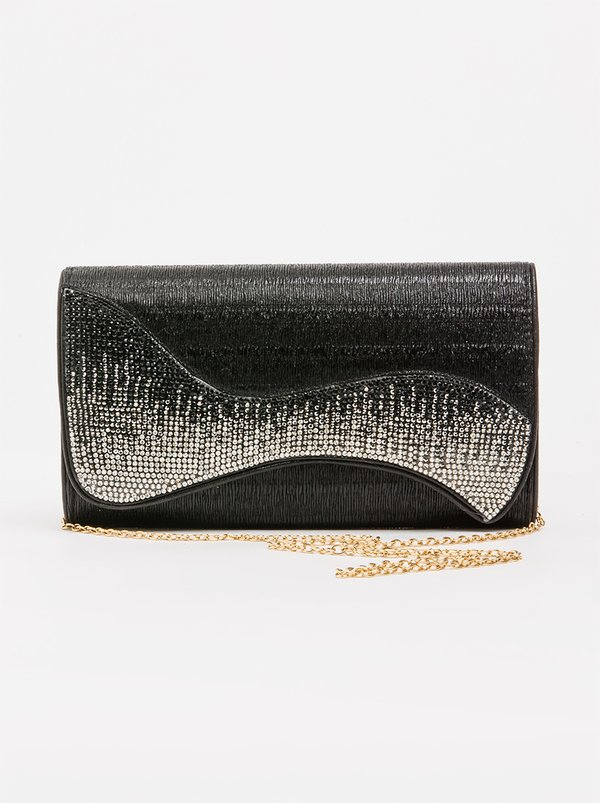 BLACKCHERRY Glitter Clutch Bag Black