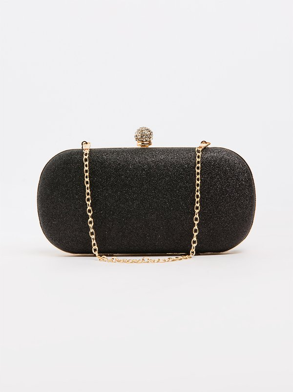 BLACKCHERRY Shimmer Clutch Bag Black