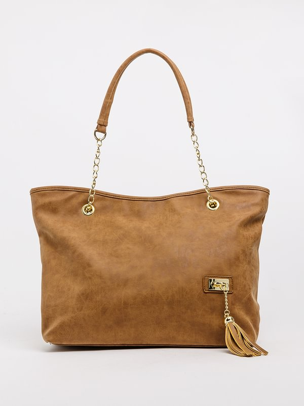 Marie Claire Melange Shoulder Bag Taupe