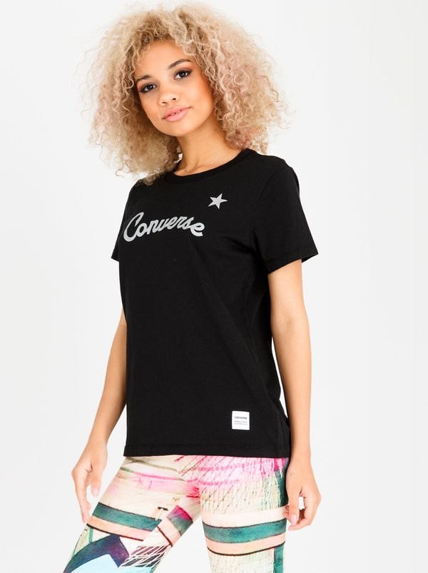 Converse Reflective Star Tee Black