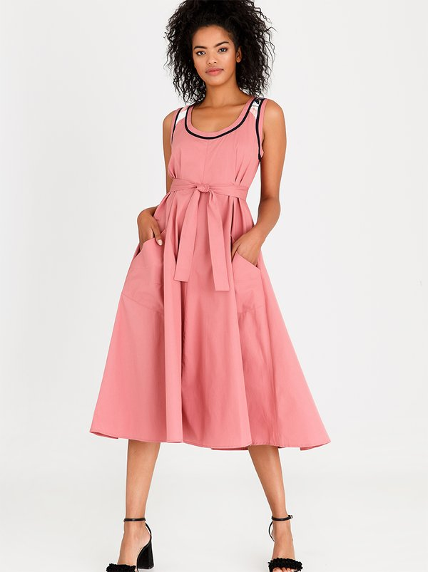 AMANDA LAIRD CHERRY Simosihle Dress Mid Pink