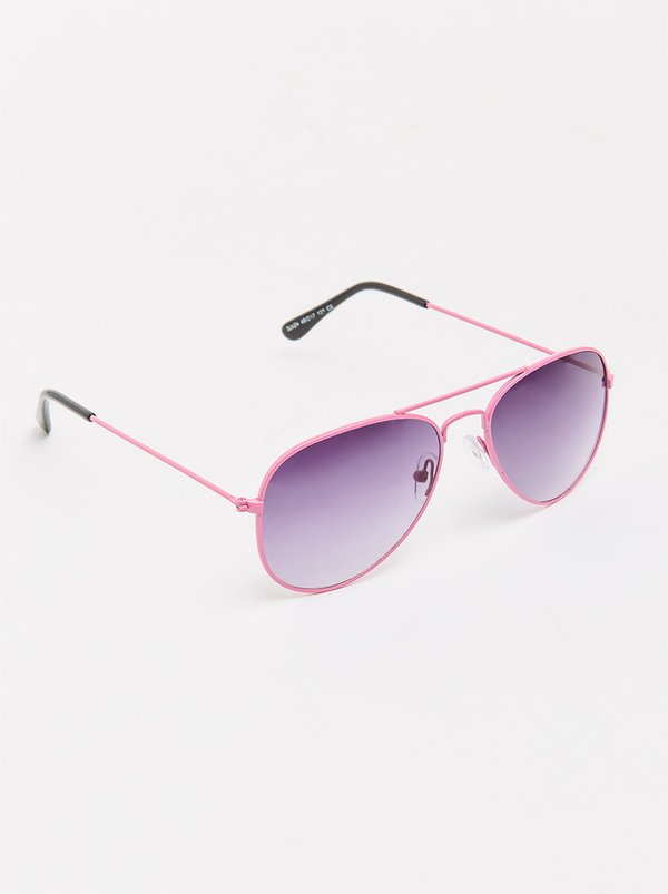 POP CANDY Aviator Sunglasses Mid Pink