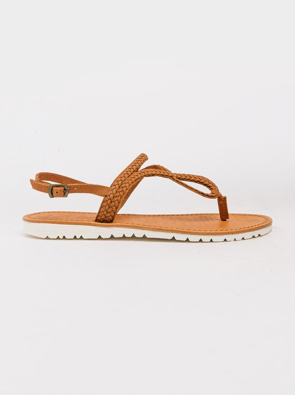 Gia by Queue Woven Sandals Tan