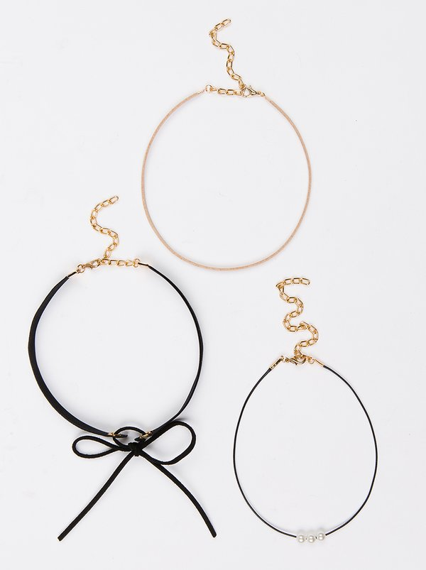Jewels and Lace Choker 3Pack Multi-colour