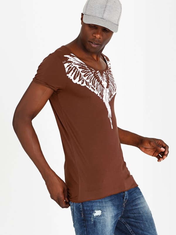 STYLE REPUBLIC Ruffian Angel Tee Rust