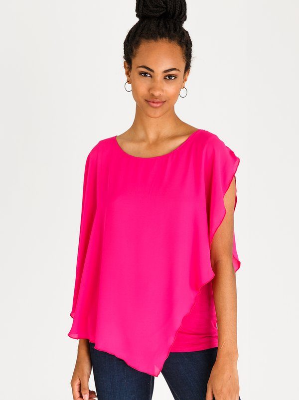 edit Feminine Blouse Magenta