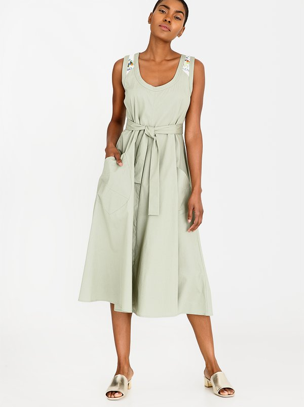 AMANDA LAIRD CHERRY Simosihle Dress Khaki Green