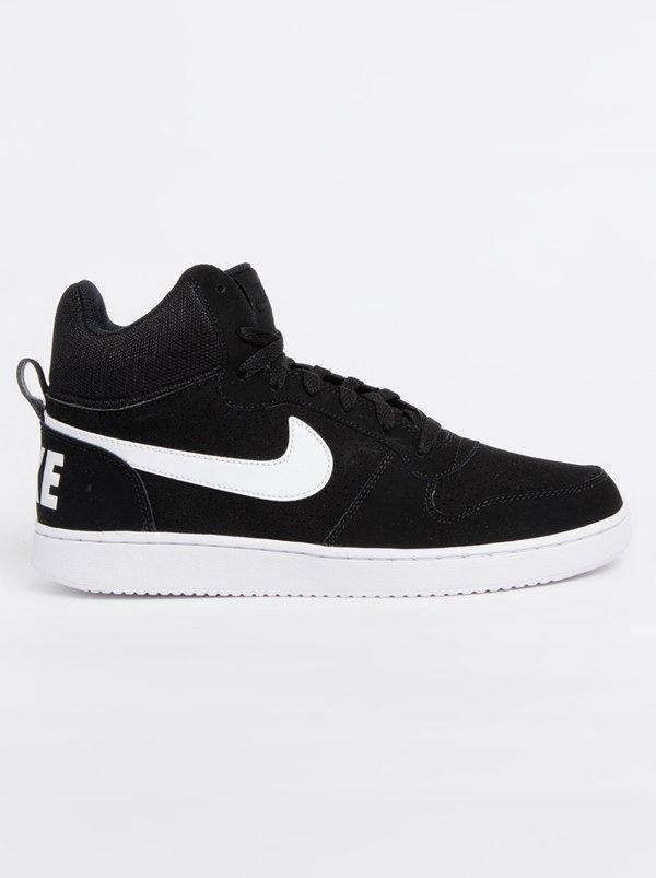NIKE Nike Court Borough Mid Sneakers Black and White .