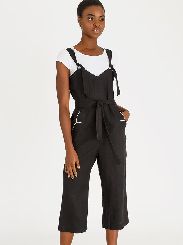 Lesebo Jumpsuit Black and White | AMANDA LAIRD CHERRY