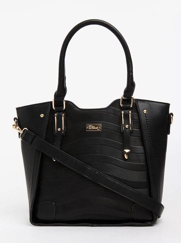 Miss Black Florence Structured Tote Bag Black