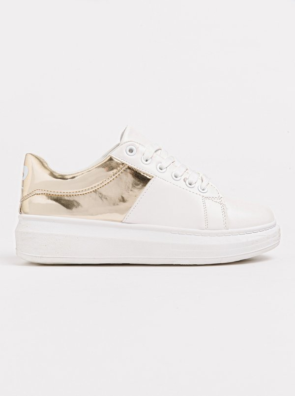 Pierre Cardin Metallic Detail Sneakers Gold